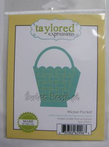 wykrojnik Taylored expressions - wicker pocket