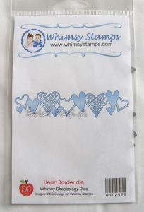 wykrojnik Whimsy Stamps - heart border