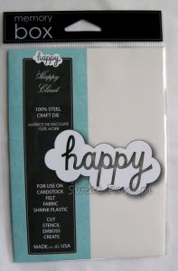 wykrojnik Memory Box - chmurka z napisem happy [98893] (Happy Cloud)