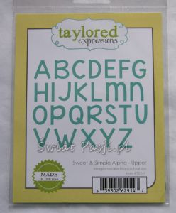 wykrojnik Taylored expressions - sweet & simple alpha (upper)