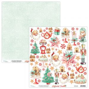 papier scrapbook Mintay Papers - the sweetest christmas - arkusz z elementami