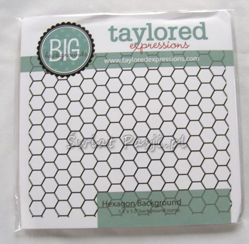 stempel gumowy Taylored expressions - hexagon background