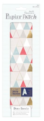 papier do decoupage - papier patch - geometric neon T [PMA169319]