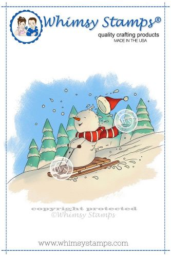 stempel gumowy Lee Holland Collection - snowman's sled ride