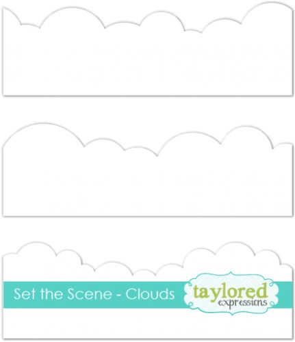 szablon Taylored Expressions - set the scene clouds