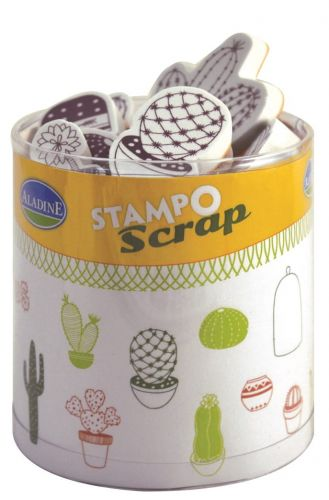 stemple Aladine - stamp O scrap: kaktusy