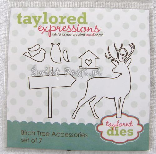 wykrojnik Taylored expressions - birch tree accessories