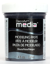 pasta modelująca DecoArt Media Modelling Paste Black 118 ml