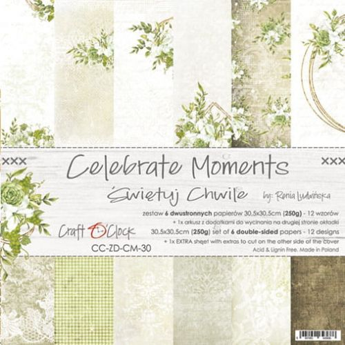 "papier scrapbook Craft o'clock - celebrate moments [zestaw 12"" x 12""]"