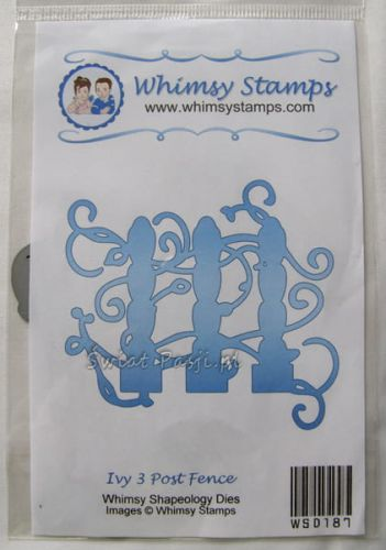 wykrojnik Whimsy Stamps - ivy 3 post fence