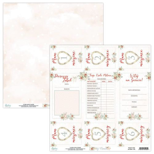 arkusz z elementami do wycinania Mintay Papers - tiny miracle (karty)