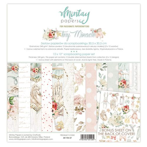 papier scrapbook Mintay Papers - tiny miracle [bloczek/pad]