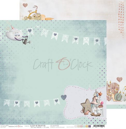 papier scrapbook craft o'clock - sleep & dream 03