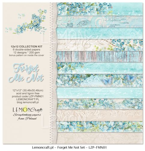 papier scrapbook LemonCraft - forget me not [bloczek/pad]