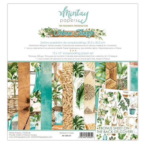 papier scrapbook Mintay Papers- urban jungle [zestaw]