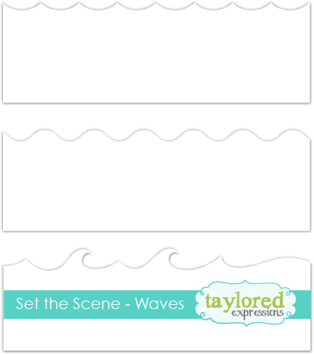szablon Taylored Expressions - set the scene waves