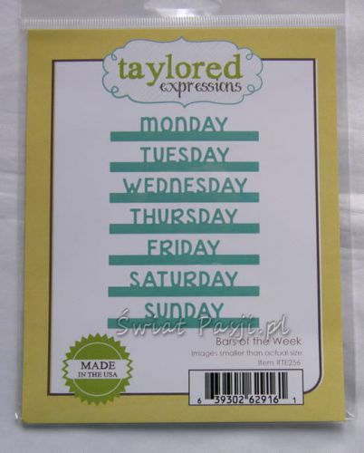 wykrojnik Taylored expressions - bars of the week