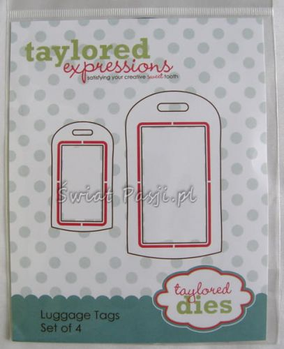wykrojnik Taylored expressions - luggage tags