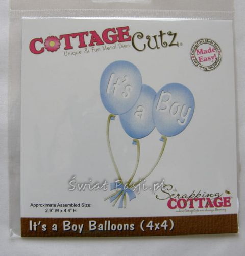 wykrojnik Cottage Cutz - it's a boy baloons [582]