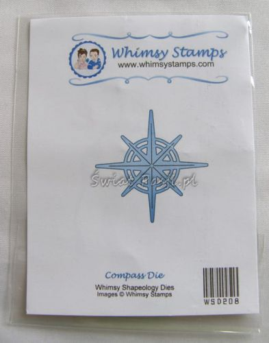 wykrojnik Whimsy Stamps - kompas (Compass)