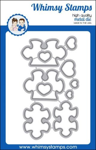 wykrojnik Whimsy Stamps - you complete me puzzle pieces die set