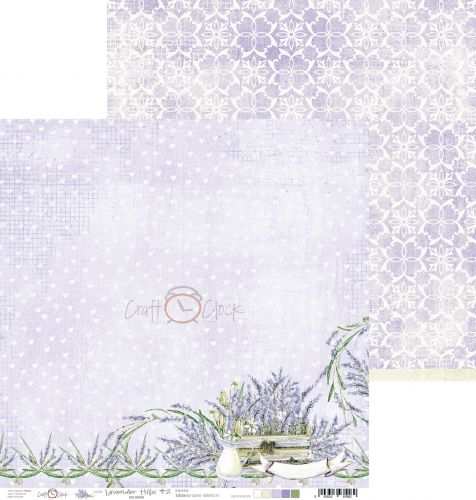 papier scrapbook Craft o'clock - lavender hills 02
