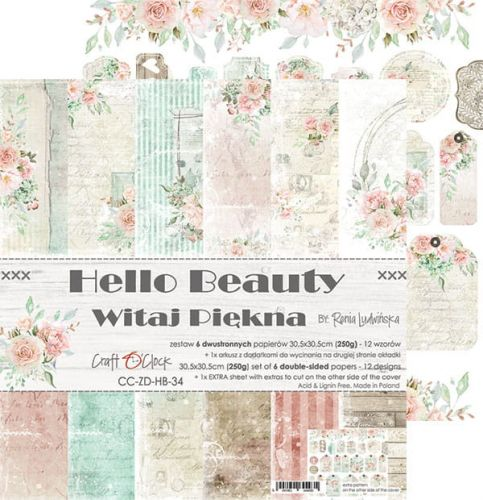 "papier scrapbook Craft o'clock - hello beauty [zestaw 12"" x 12""]"