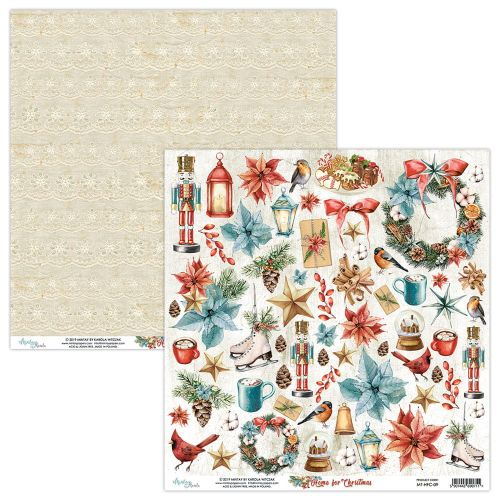 papier scrapbook Mintay Papers - home for christmas - arkusz z elementami