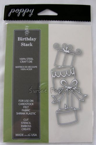 wykrojnik Poppy Stamps - birthday stack [1121]