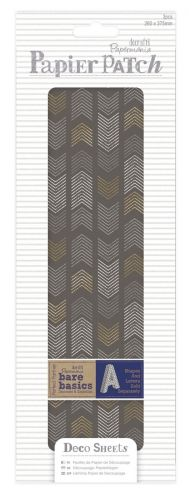 papier do decoupage - papier patch - geometric mono chevrons [PMA169322]