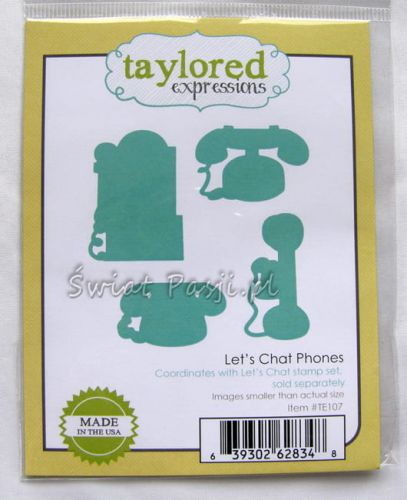 wykrojnik Taylored expressions - let's chat phones