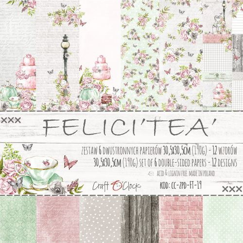 "papier scrapbook Craft o'clock - felici'tea' [zestaw 12"" x 12""]"